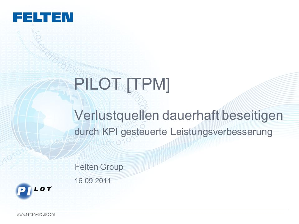 PILOT [TPM] Verlustquellen dauerhaft beseitigen